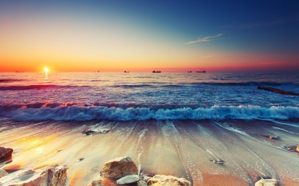 Tierra/Naturaleza Paisaje Marino Naturaleza Océano Horizon Sea Ola Playa Fondo de pantalla HD | Fondo de Escritorio