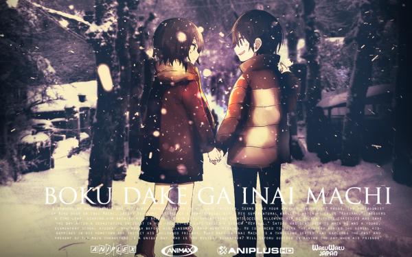 Anime ERASED Boku Dake Ga Inai Machi Satoru Fujinuma Kayo Hinazuki Fondo de pantalla HD | Fondo de Escritorio