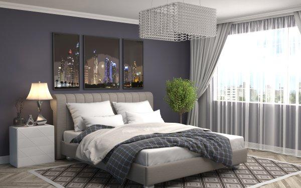 Construction Humaine Pièce Bedroom Meubles Bed Fond d'écran HD | Image