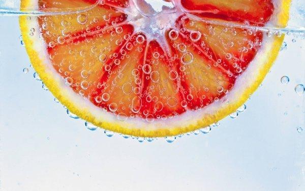 Food Blood Orange Fruits orange Water Bubble Fruit HD Wallpaper   Background Image