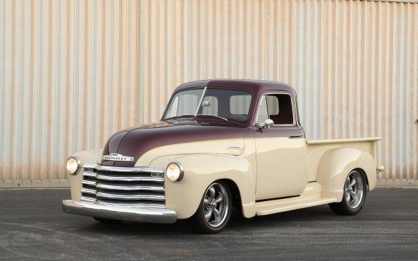 Vehicles Chevrolet 3100 Chevrolet 1951 Chevrolet 3100 Hot Rod Pickup Truck HD Wallpaper | Background Image