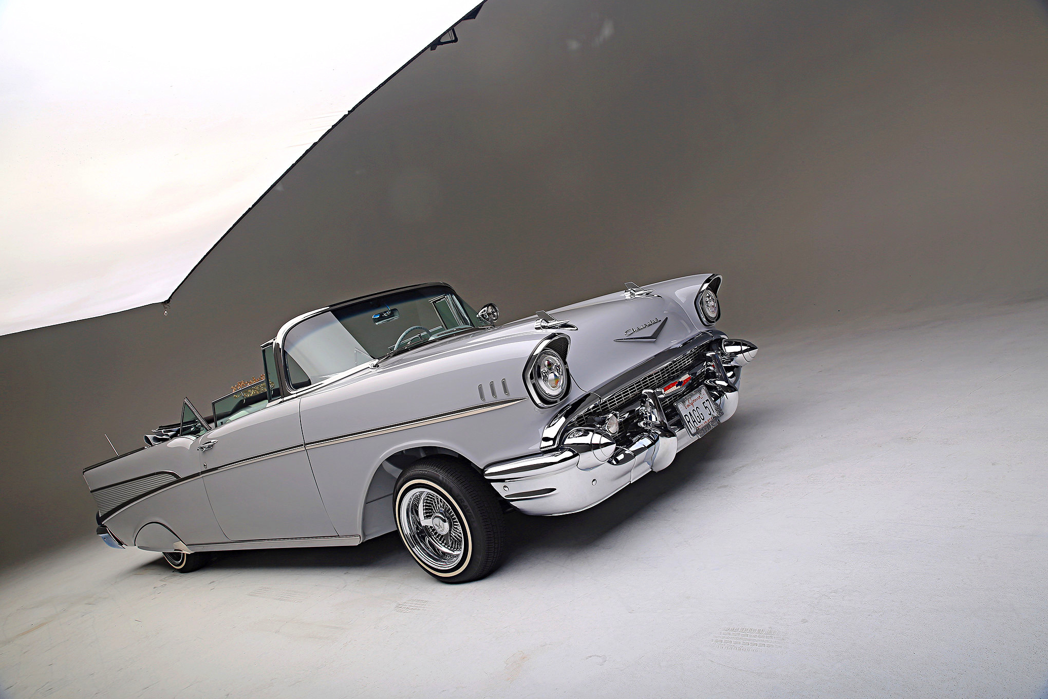 1957 Chevrolet Bel Air Convertible Hd Wallpaper Background Image Chevy Bellaire Lowrider Wallpapers Id742745