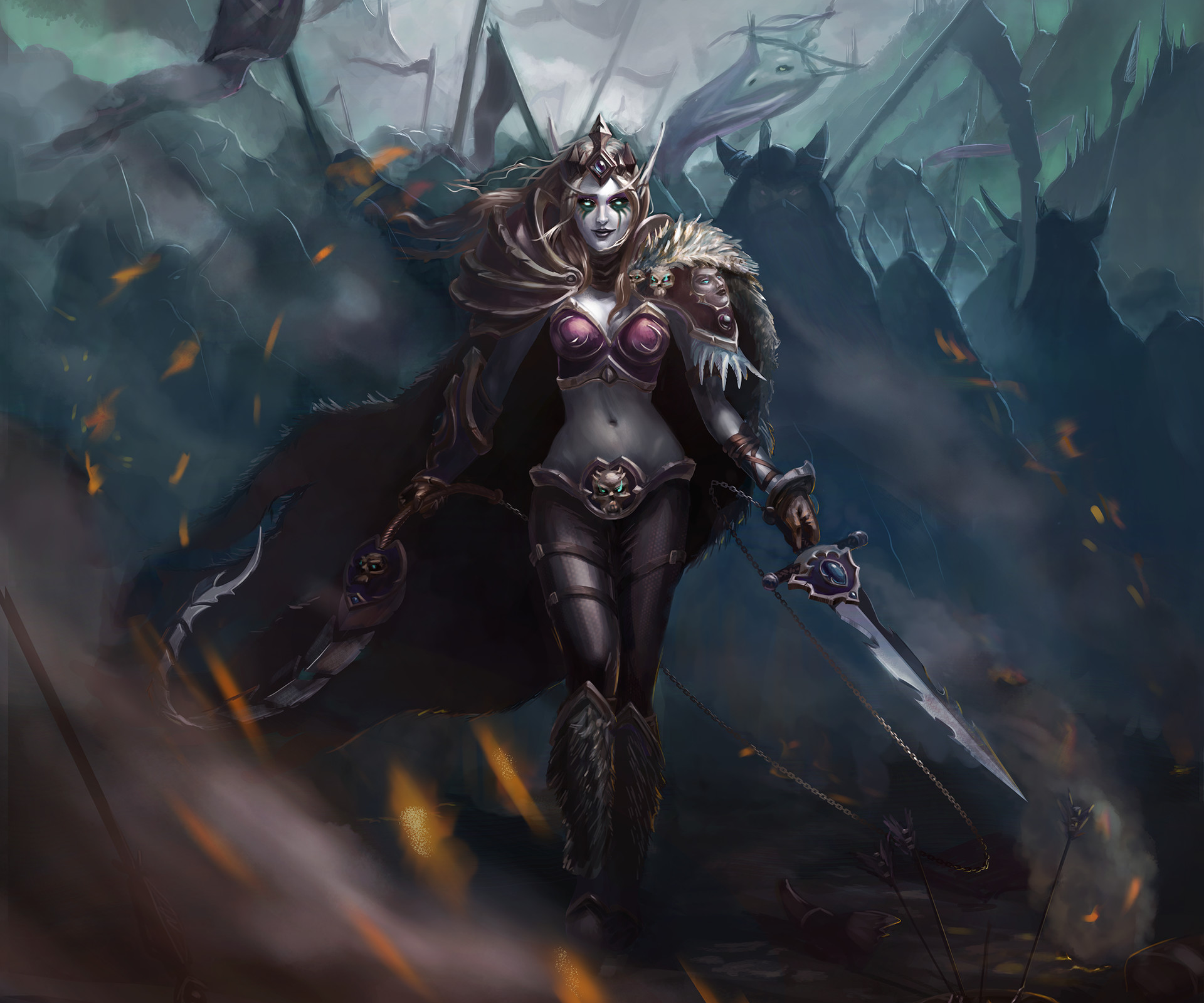 Diablo 3 Wallpaper 1920x1080: Warrior Woman HD Wallpaper