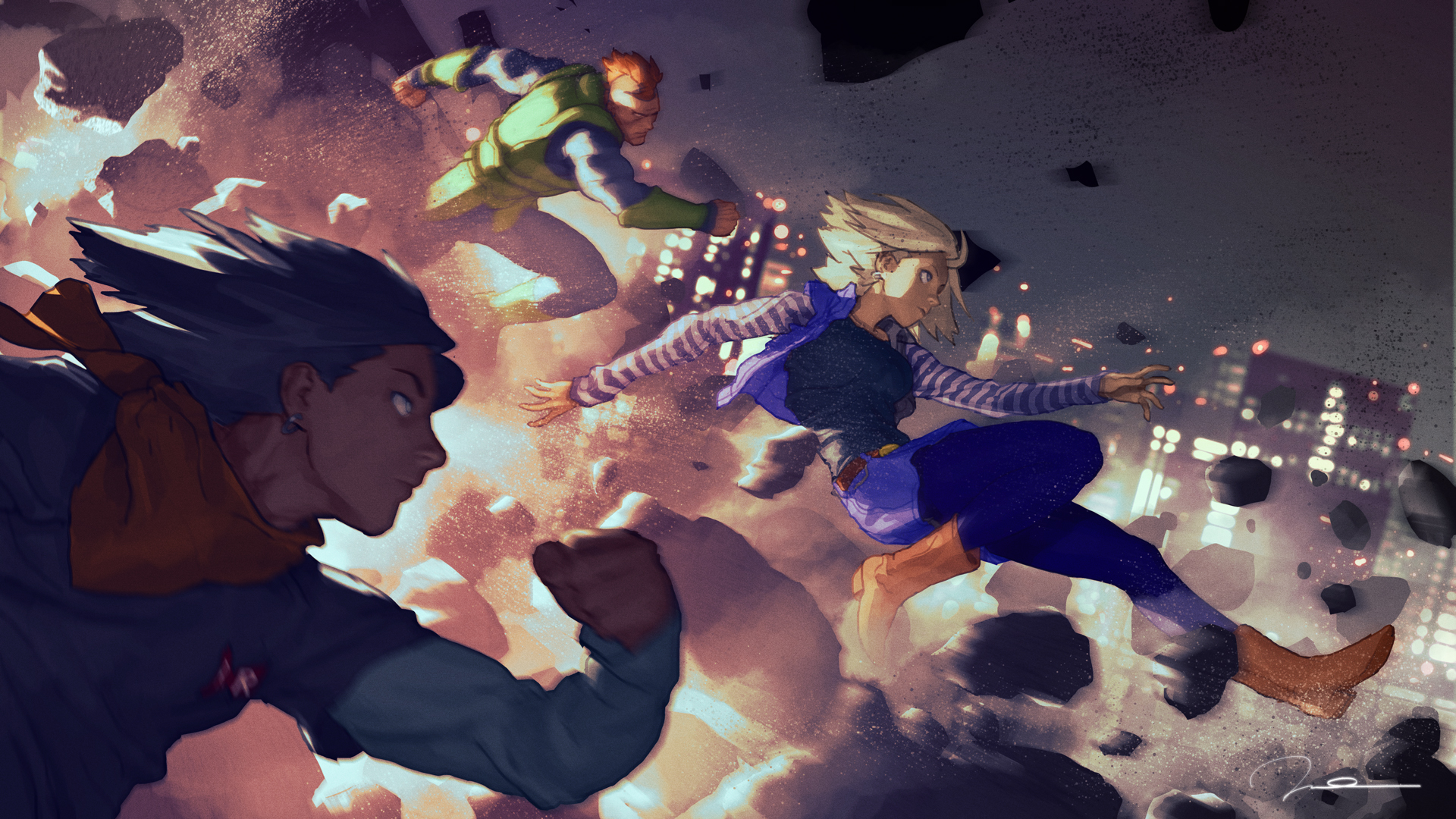 Dragon Ball Z Hd Wallpaper For Android: The Androids Invasion HD Wallpaper