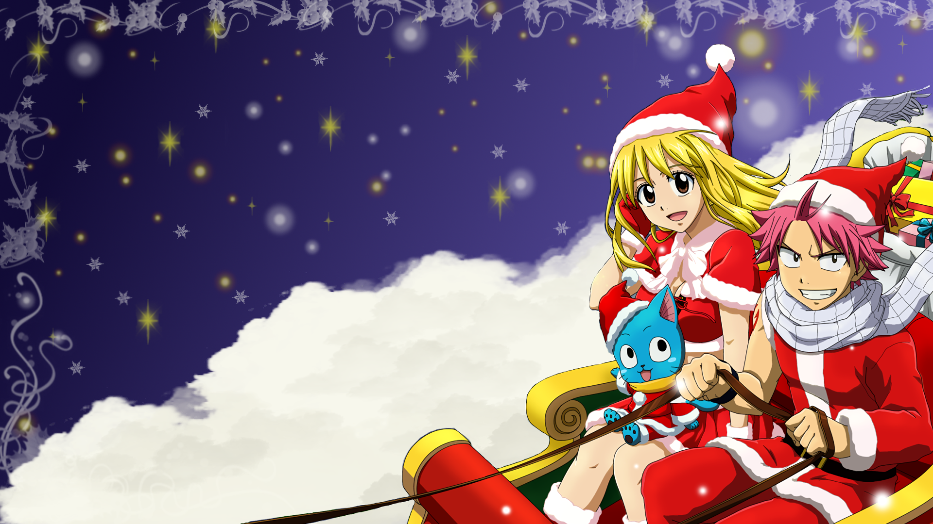 Fairy tail hd wallpaper background image 1920x1080 - Anime merry christmas wallpaper ...