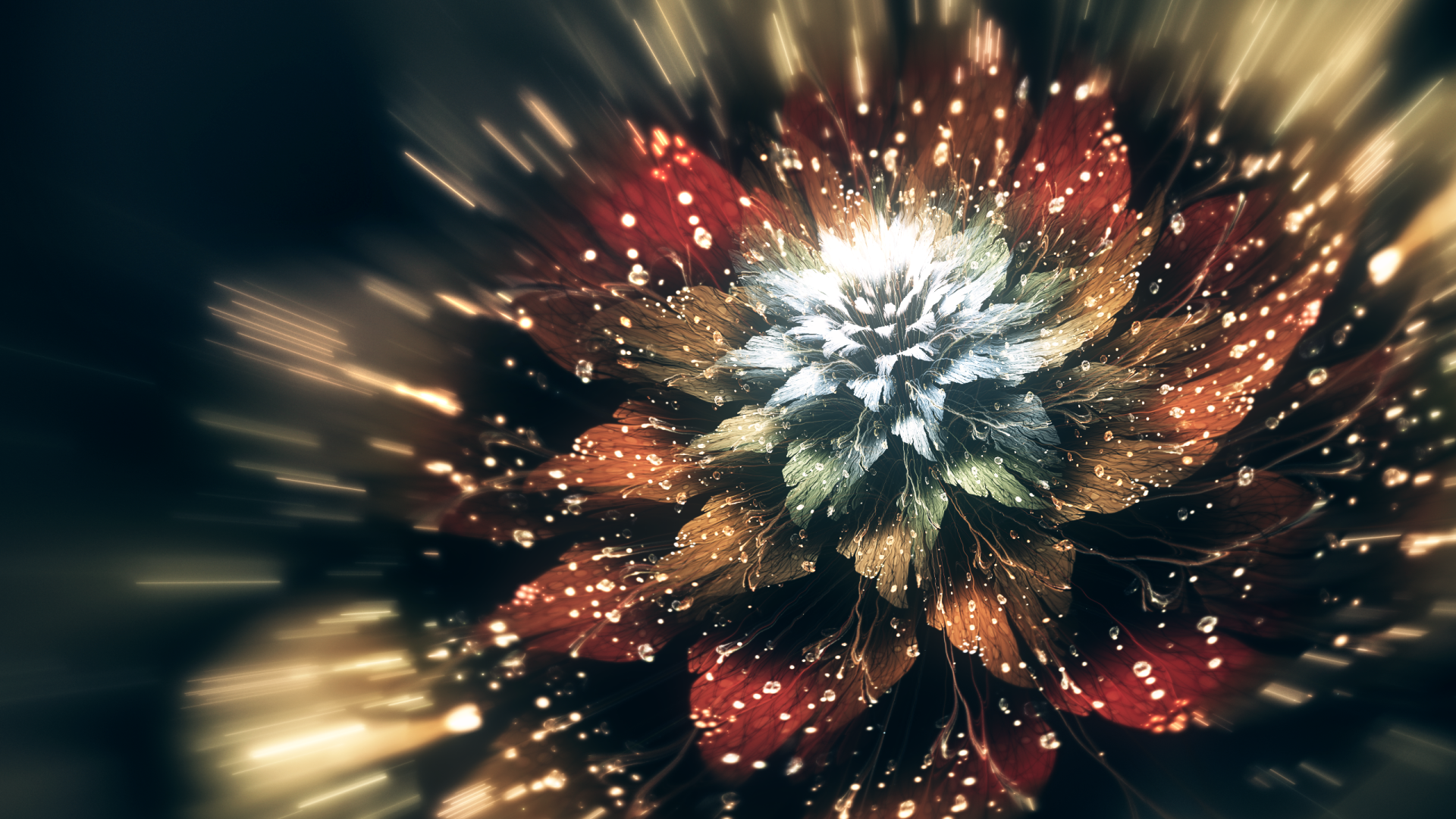 Abstract - Fractal  Flower Abstract Digital Art Artistic Wallpaper