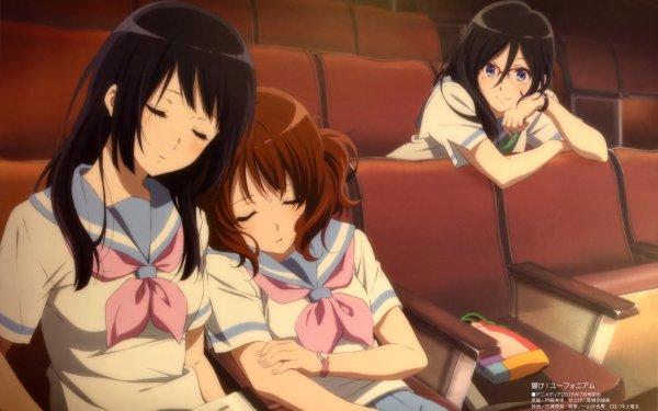 Anime Sound! Euphonium Kumiko Oumae Reina Kousaka Asuka Tanaka HD Wallpaper | Background Image