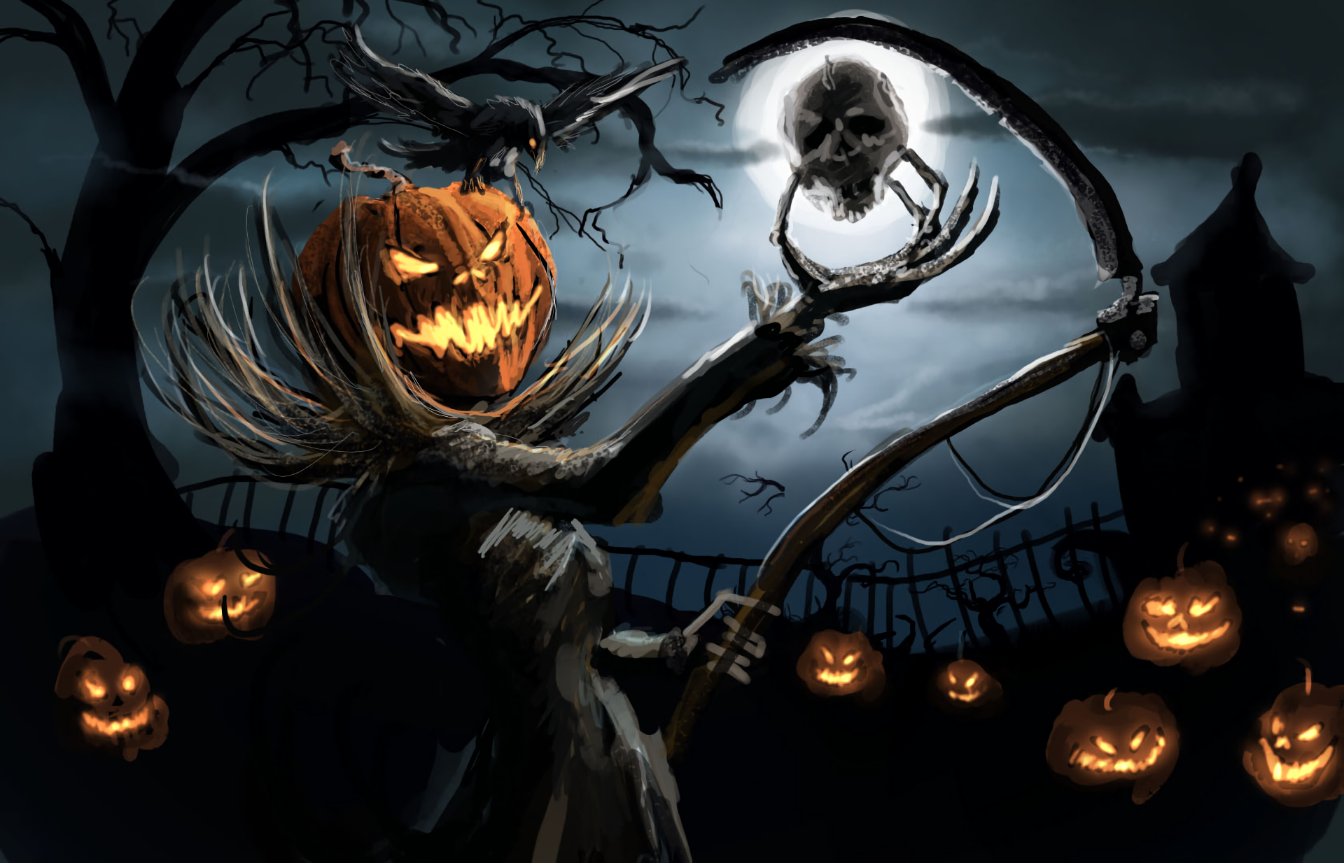 Jack O Lantern Halloween Pumpkin Wallpaper Iphone Android