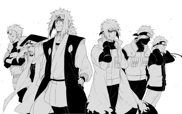 Anime Naruto Naruto Uzumaki Minato Namikaze Kakashi Hatake Jiraiya Fondo de pantalla HD | Fondo de Escritorio