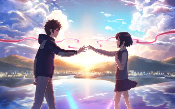 Anime Your Name. Mitsuha Miyamizu Taki Tachibana Kimi No Na Wa. Fond d'écran HD | Image
