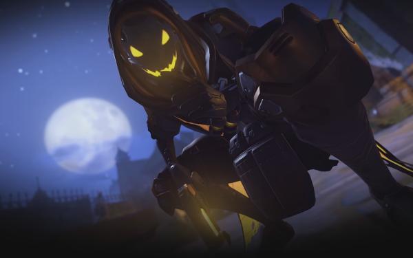 Videojuego Overwatch Halloween Ana Fondo de pantalla HD | Fondo de Escritorio