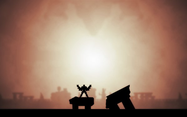 Video Game Contra III: The Alien Wars Silhouette HD Wallpaper | Background Image