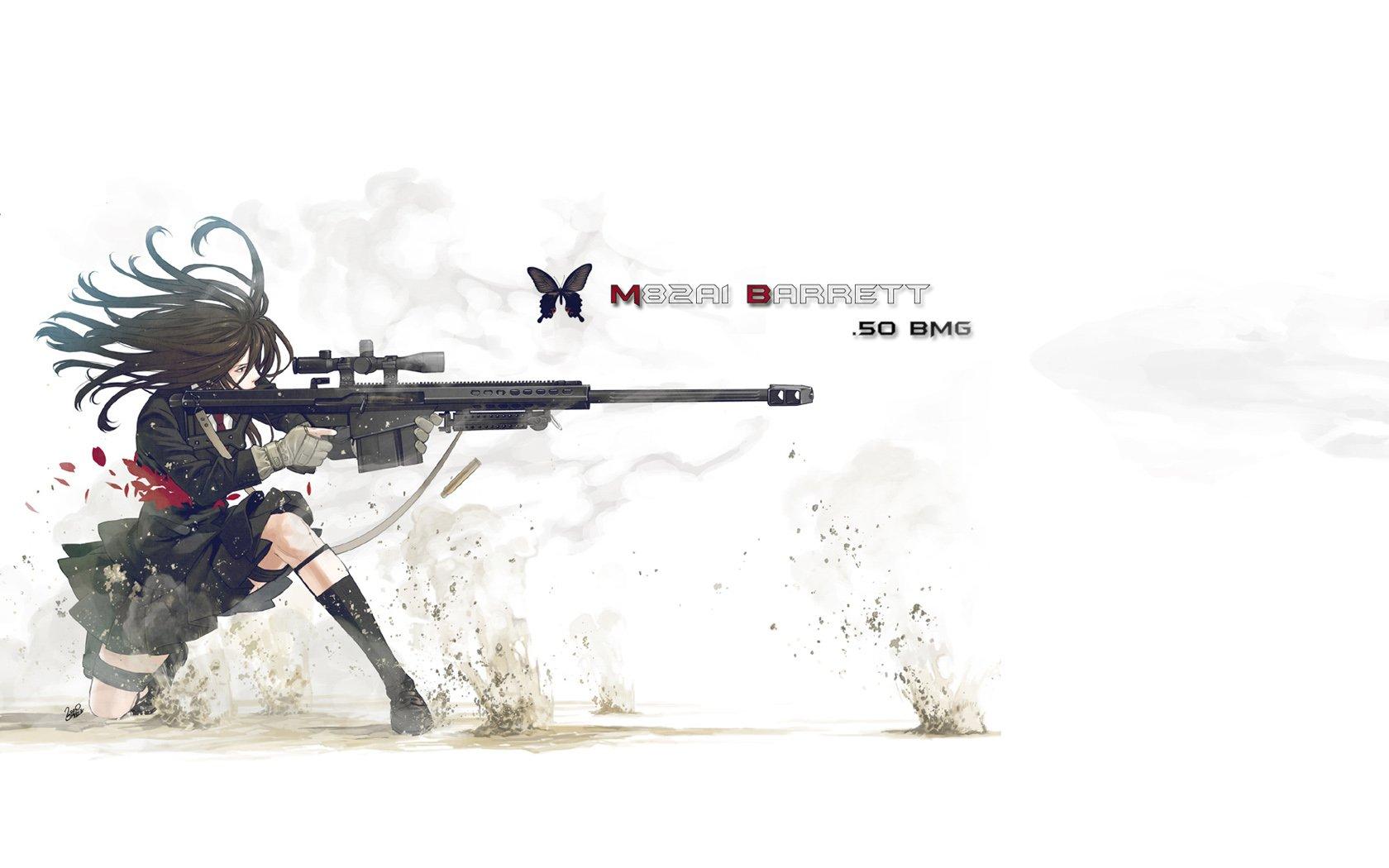 Anime - Urbild  Sniper Anime Flicka Original (Anime) Bakgrund