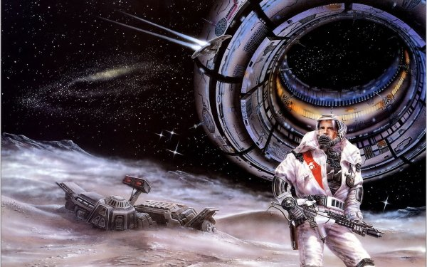 Sci Fi Astronaut Space Station Weapon Stars Galaxy HD Wallpaper   Background Image