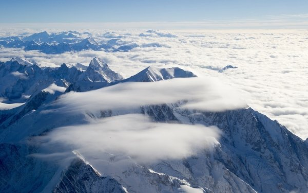 Earth Alps Mountain Mountains Alps Mountain Cloud Winter Nature Peak Aerial France Snow HD Wallpaper | Background Image