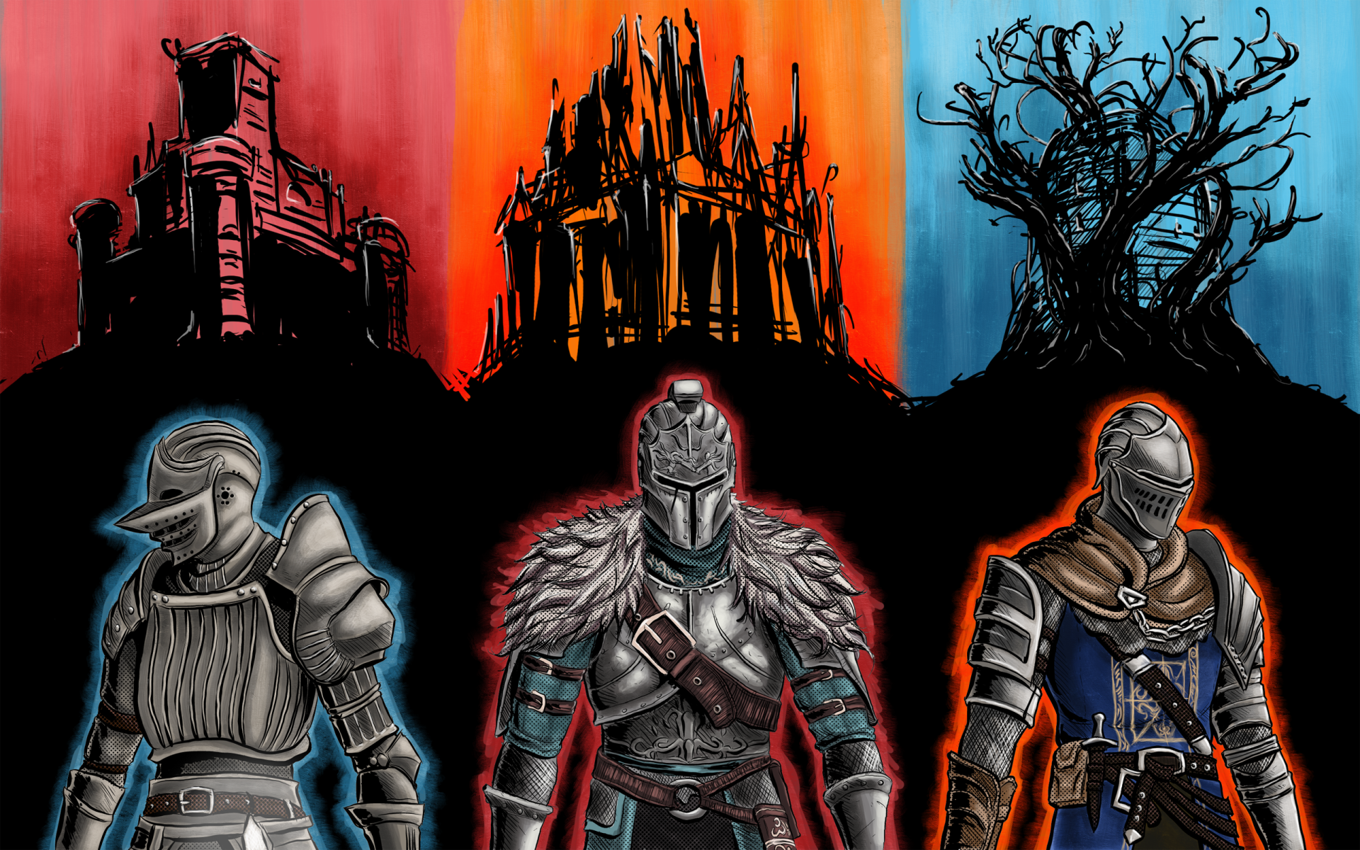电子游戏 - 黑暗之魂  黑暗之魂2 黑暗之魂3 壁纸
