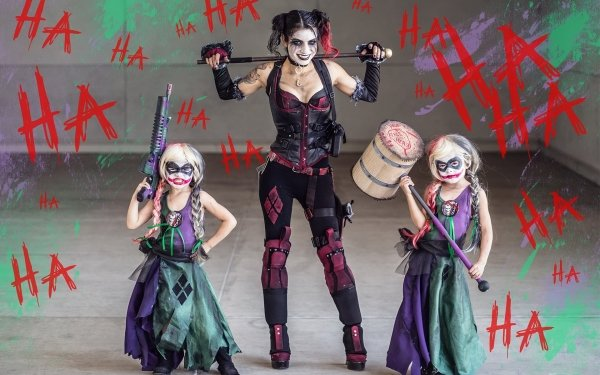 Women Cosplay Woman Harley Quinn Child HD Wallpaper   Background Image