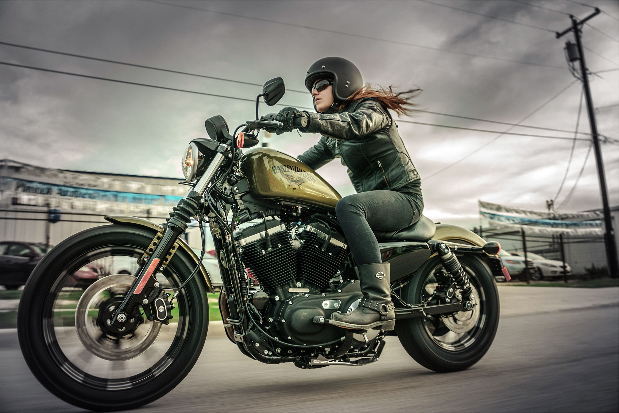 2017 Harley Davidson Iron 883 Hd Wallpaper Background Image