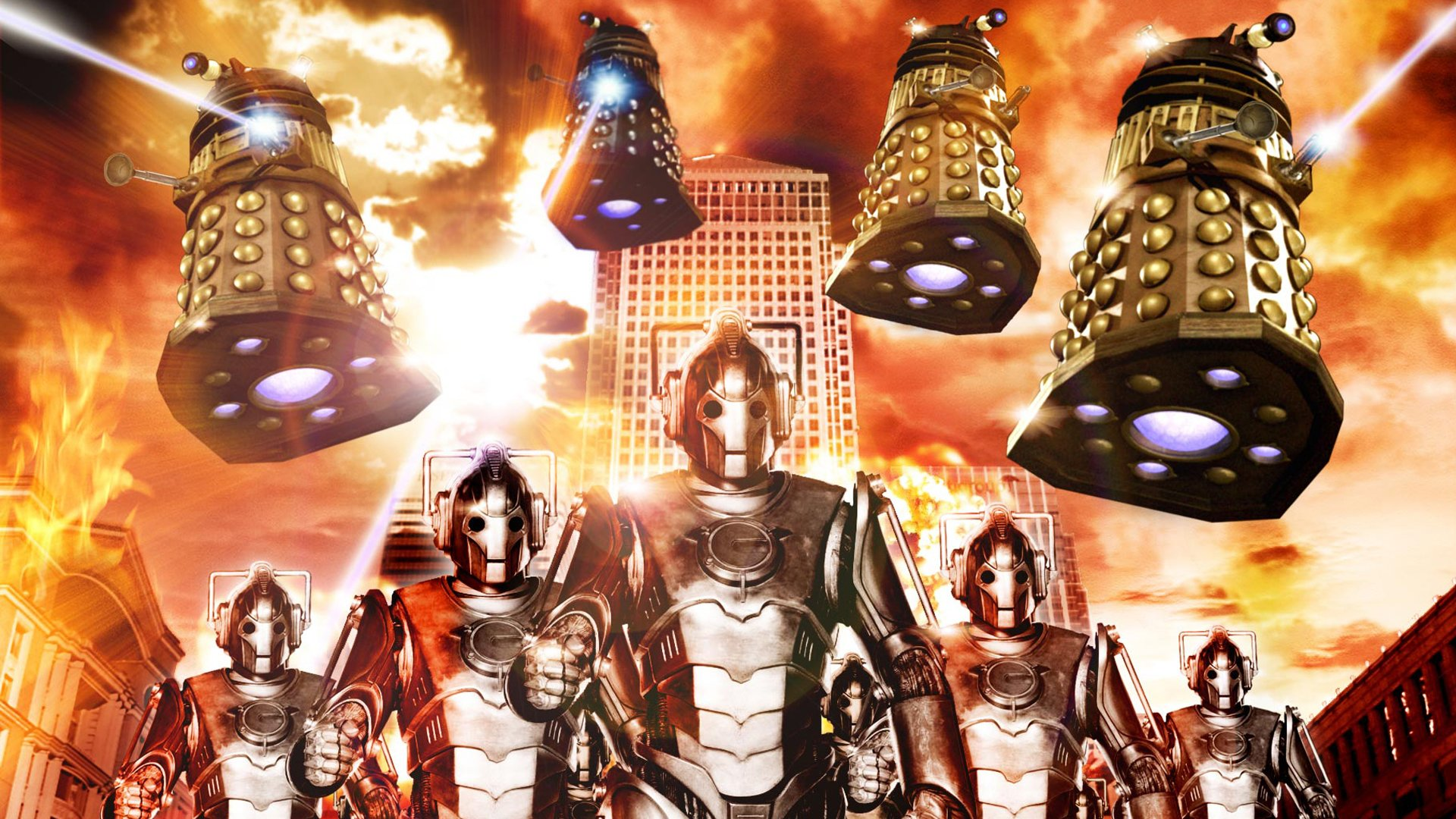 TV Show - Doctor Who  Dalek Cyberman (Doctor Who) Wallpaper
