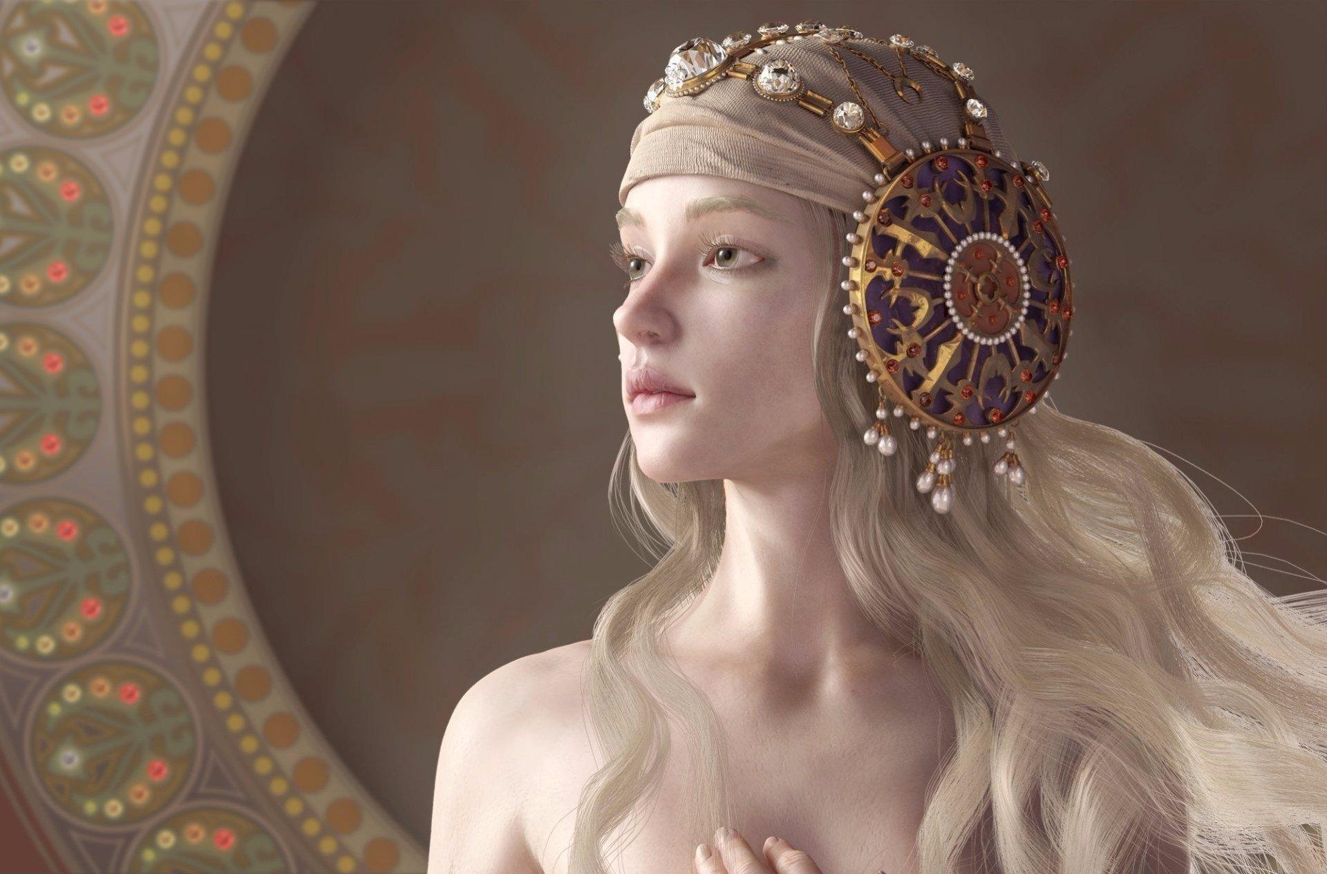 Fantasy - Women  Fantasy Woman Girl White Hair Wallpaper