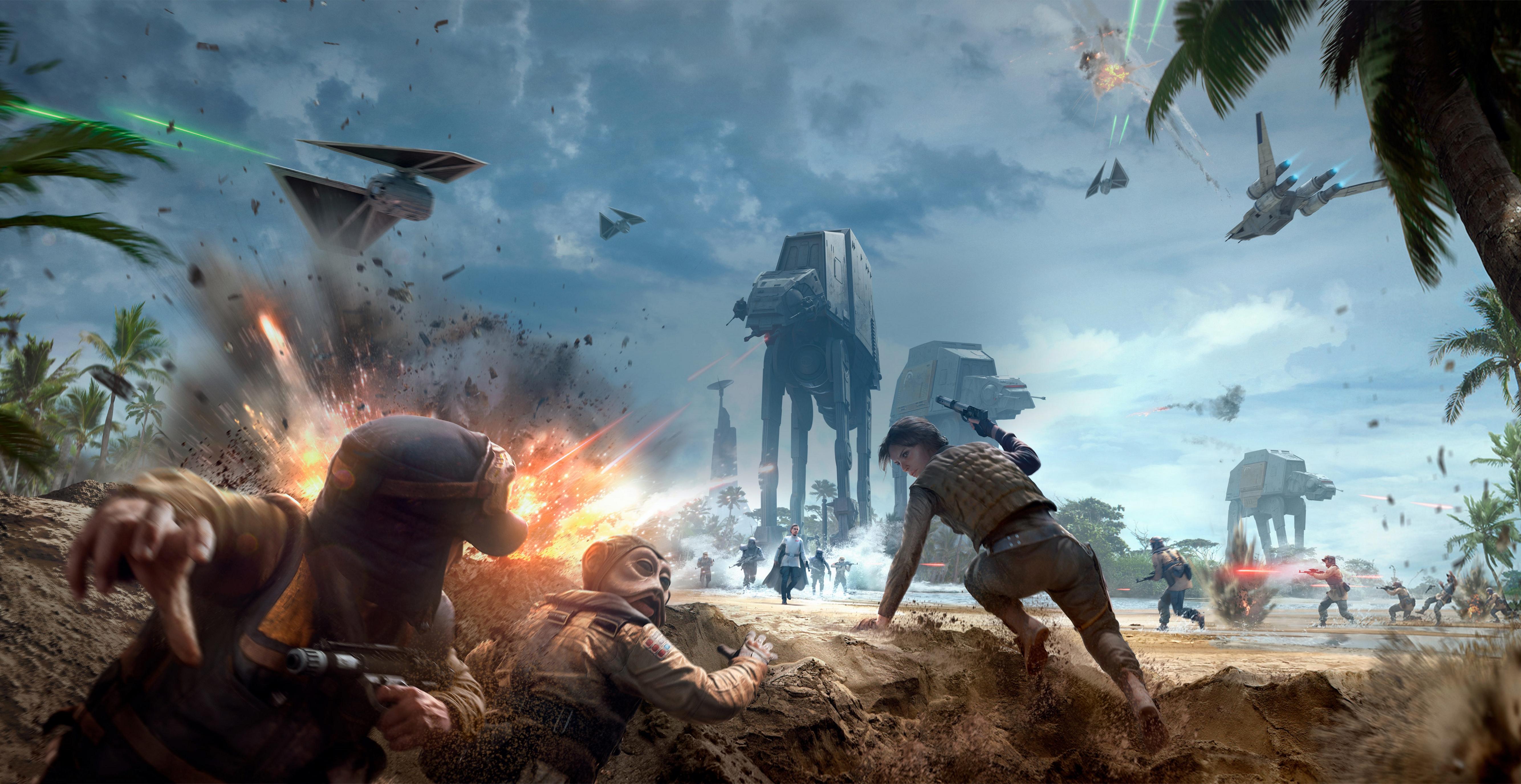 Star Wars Battle Backgrounds: Star Wars Battlefront (2015) 4k Ultra HD Wallpaper