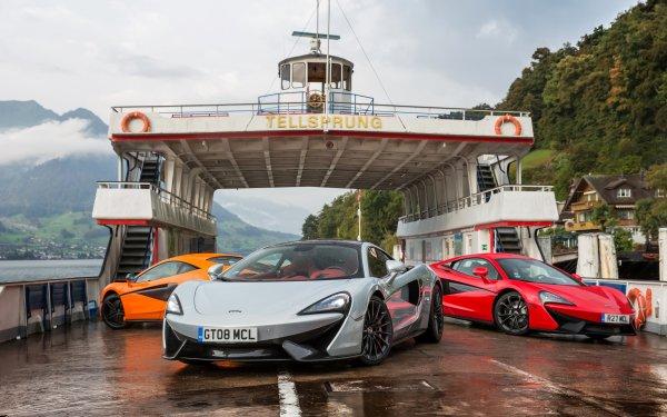 Véhicules McLaren 570GT McLaren Silver Car Red Car Orange Car Supercar Sport Car Voiture Ferry Fond d'écran HD | Arrière-Plan