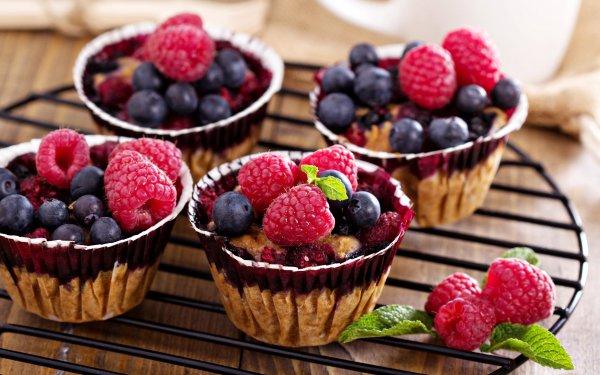 Food Dessert Fruit Berry Raspberry Blueberry HD Wallpaper | Background Image