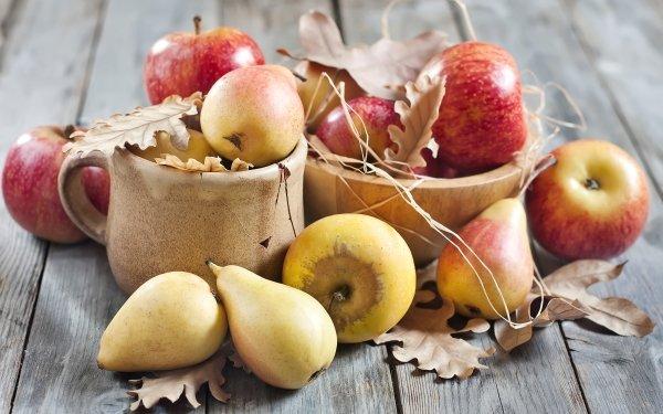 Food Still Life Apple Fall Pear Fruit HD Wallpaper | Background Image