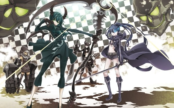 Anime Black Rock Shooter Black Gold Saw Dead Master Strength HD Wallpaper | Background Image