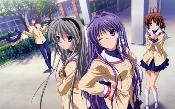 Anime Clannad Tomoyo Sakagami Tomoya Okazaki Nagisa Furukawa Kyou Fujibayashi Youhei Sunohara HD Wallpaper | Background Image