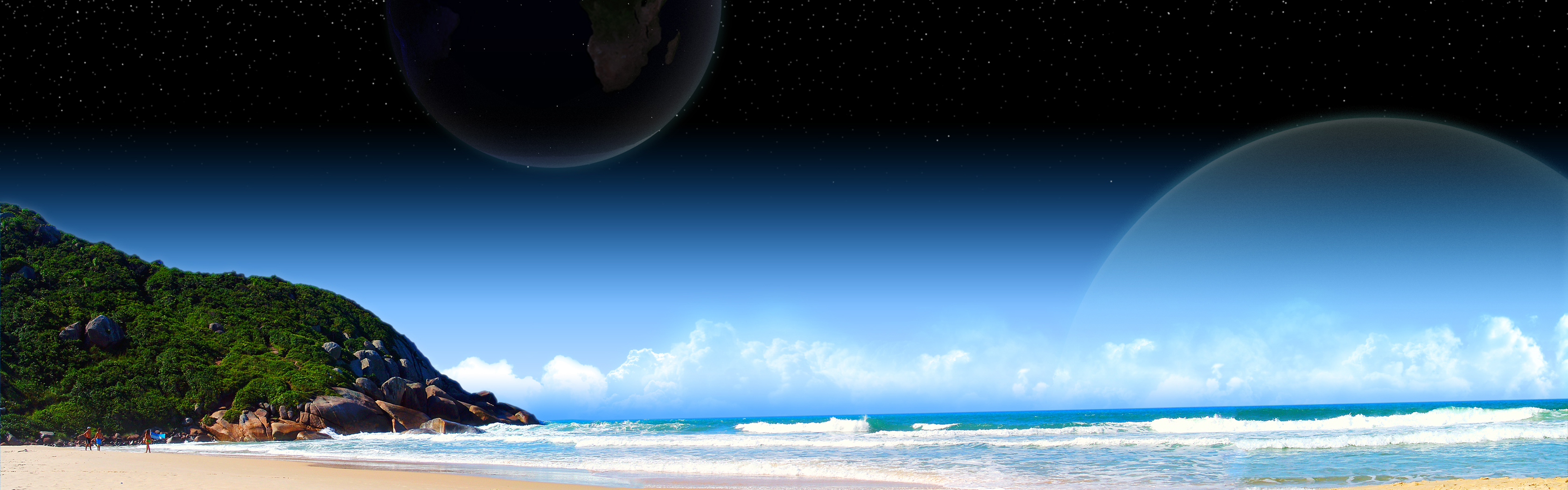 Earth Computer Wallpapers, Desktop Backgrounds 3360x1050 Id: 77371