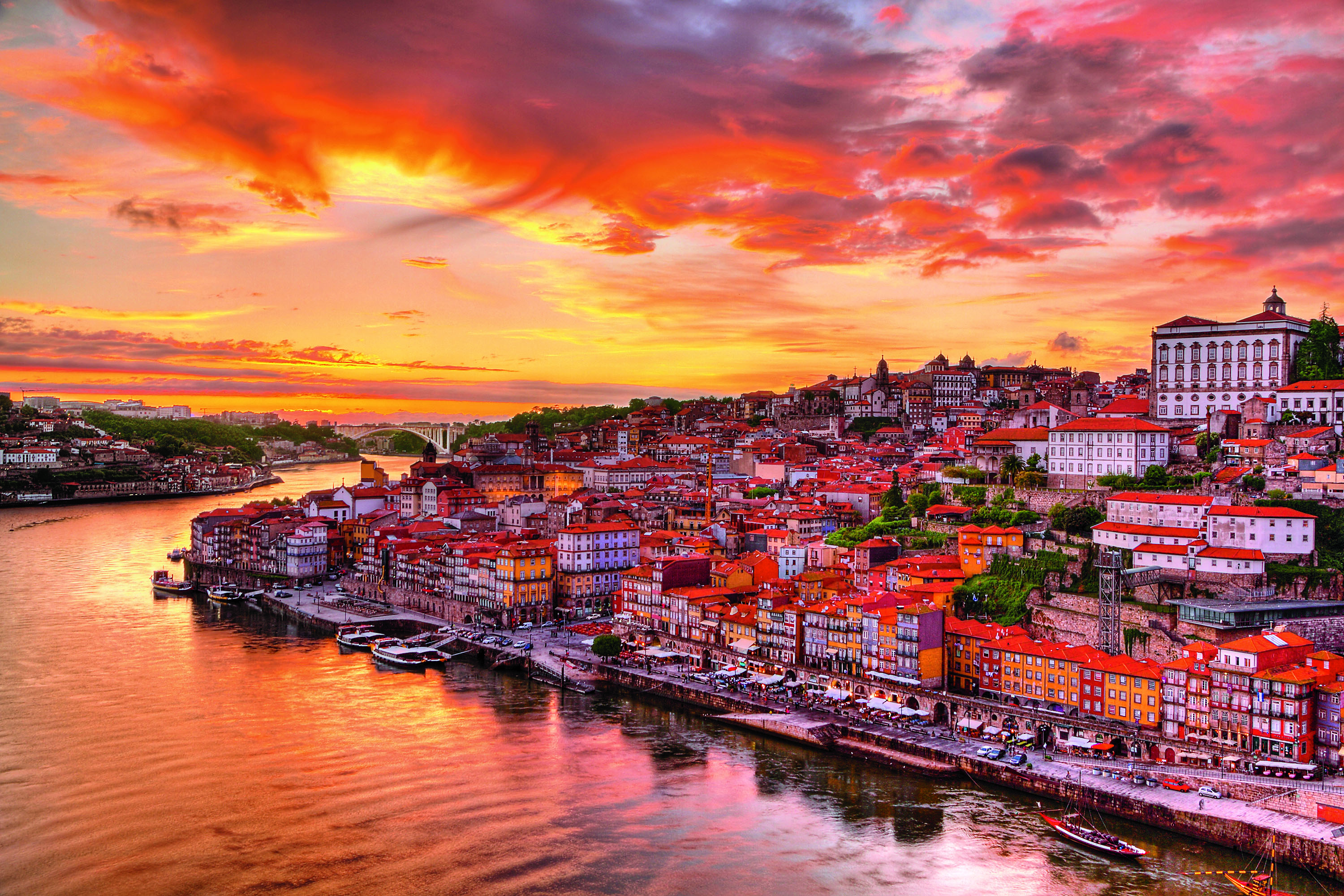 Porto portugal at sunset full hd fond d 39 cran and arri re for Fond ecran portugal