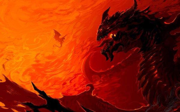 Fantasy Dragon Red HD Wallpaper   Background Image