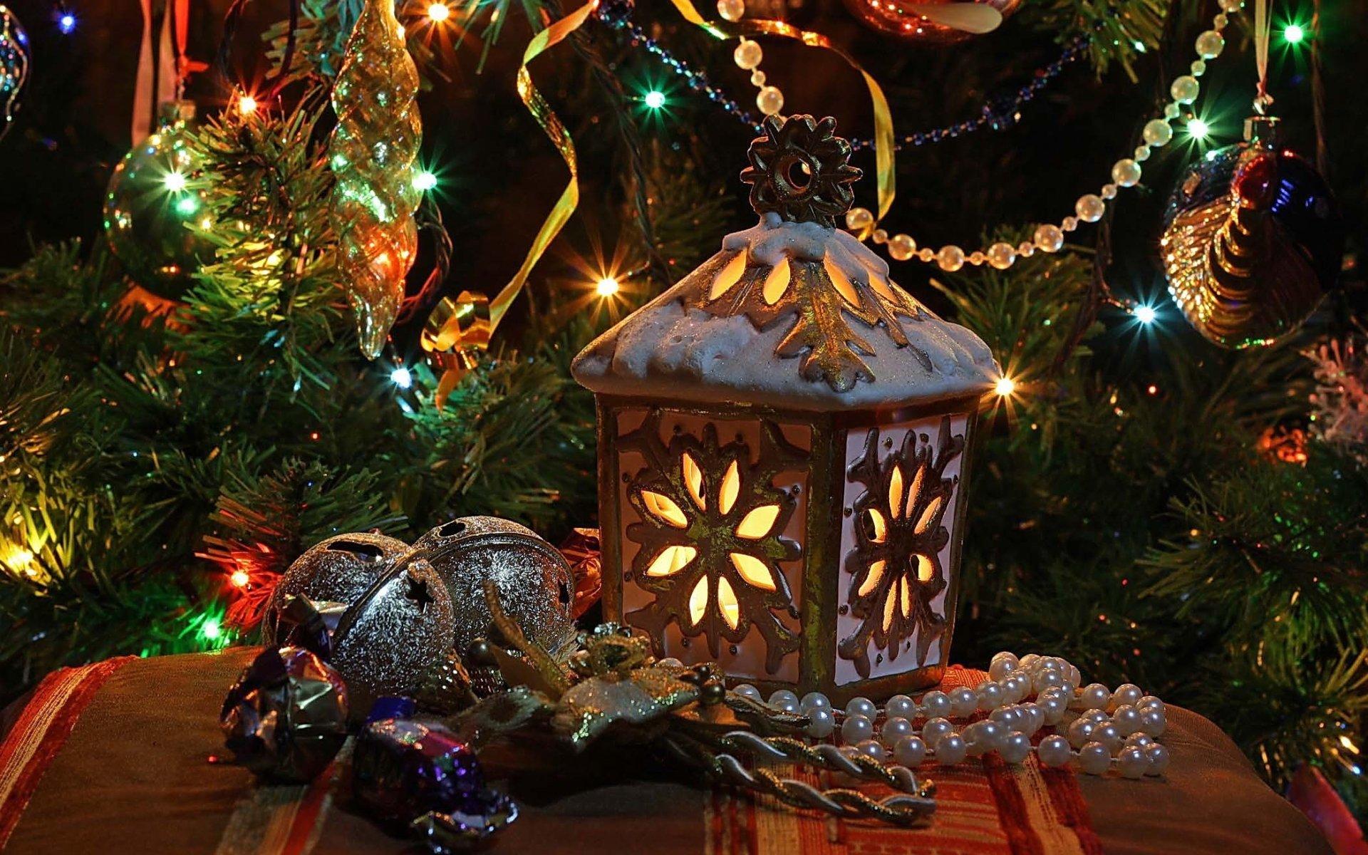 节日 - 圣诞节  节日 灯笼 Christmas Ornaments 壁纸