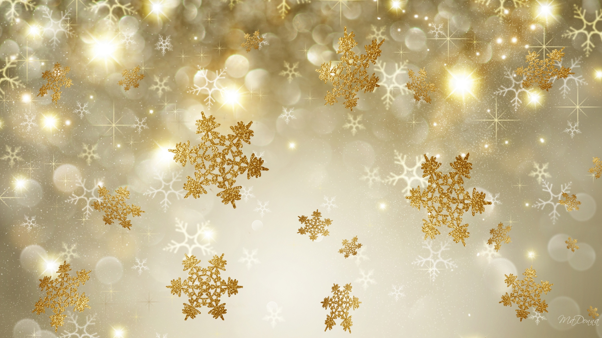 gold christmas snowflake wallpaper - photo #1