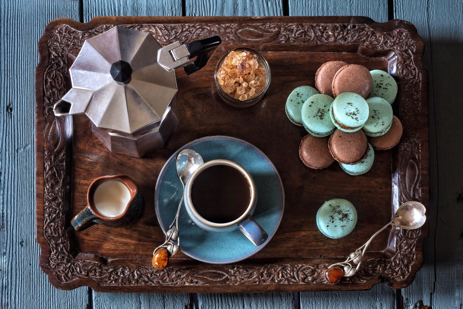Food - Still Life  Coffee Cup Macaron Wallpaper