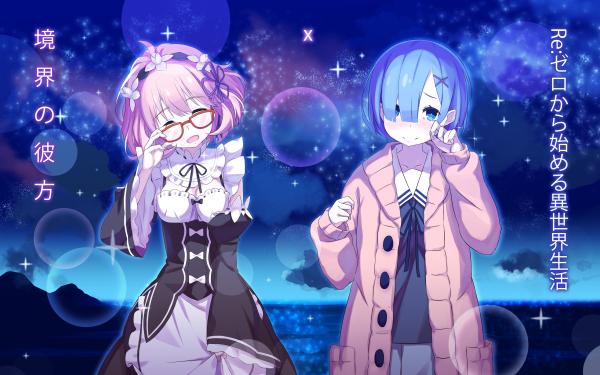 Anime Crossover Re:ZERO -Starting Life in Another World- Kyoukai no Kanata Beyond the Boundary Rem Mirai Kuriyama HD Wallpaper | Background Image