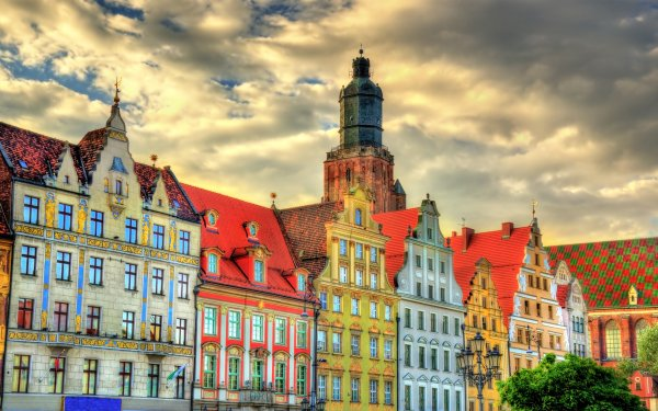 Man Made Building Buildings Colors Colorful Poland HD Wallpaper | Background Image