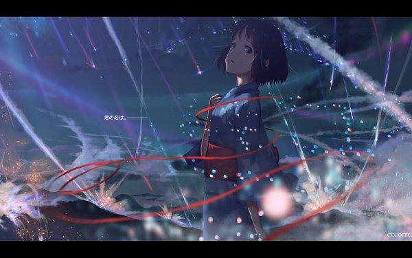 Anime Your Name. Mitsuha Miyamizu Kimi No Na Wa. HD Wallpaper   Background Image