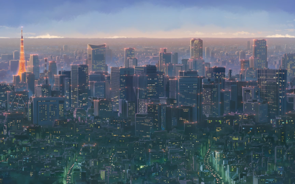 Anime Cross Road City HD Wallpaper | Background Image