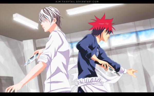 Anime Food Wars: Shokugeki no Soma Sōma Yukihira Eishi Tsukasa HD Wallpaper   Background Image
