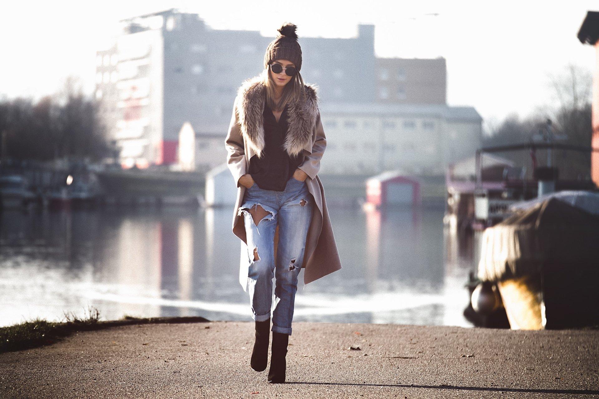 Women - Mood  Woman Model Girl Sunglasses Hat Wallpaper