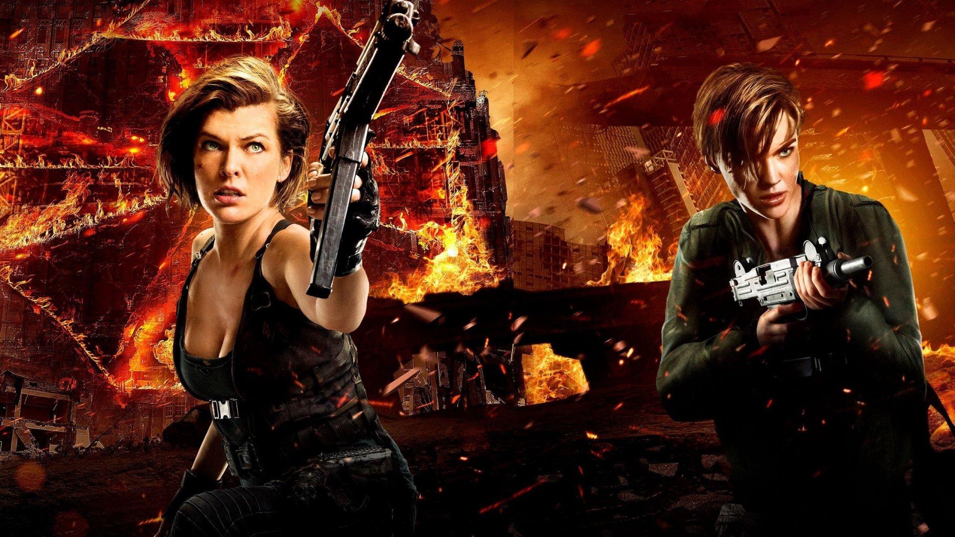 Movie - Resident Evil: The Final Chapter  Milla Jovovich Ruby Rose Alice (Resident Evil) Abigail (Resident Evil) Wallpaper