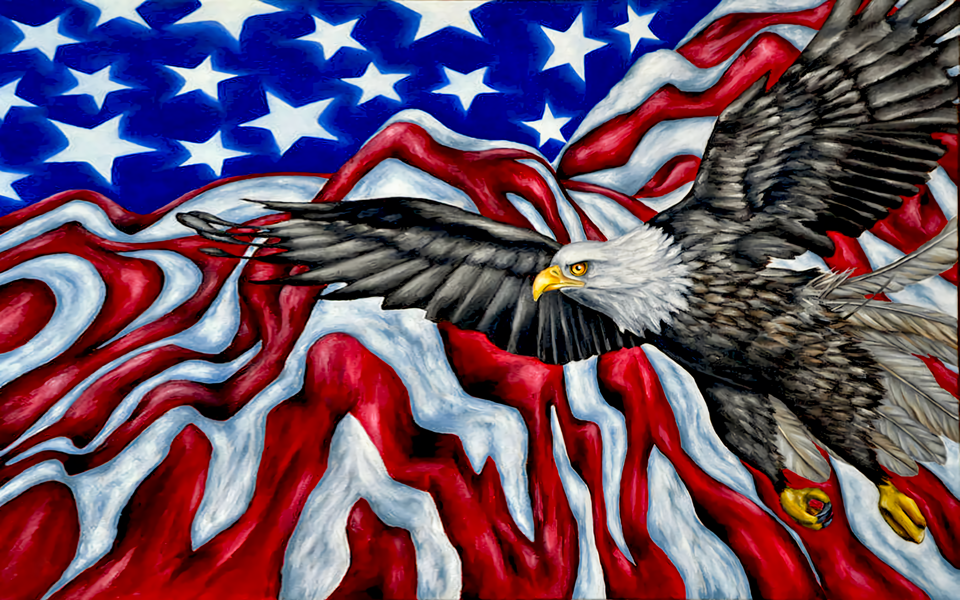 Patriotic Bald Eagle Wallpaper Wallpapersafari Full Hd And Background 1920x1200