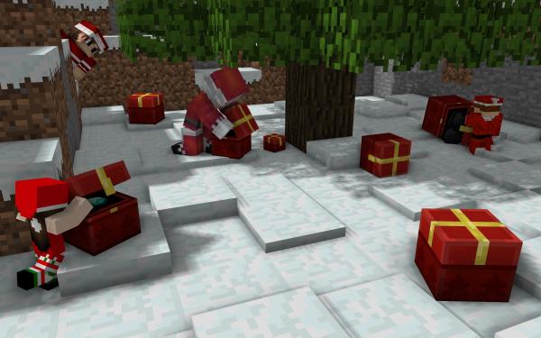Videospel Minecraft Kerstmis HD Wallpaper   Achtergrond