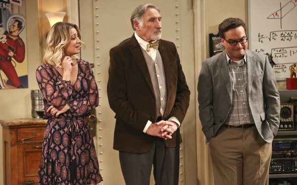 TV Show The Big Bang Theory Johnny Galecki Leonard Hofstadter Kaley Cuoco Penny Judd Hirsch Alfred Hofstader HD Wallpaper | Background Image