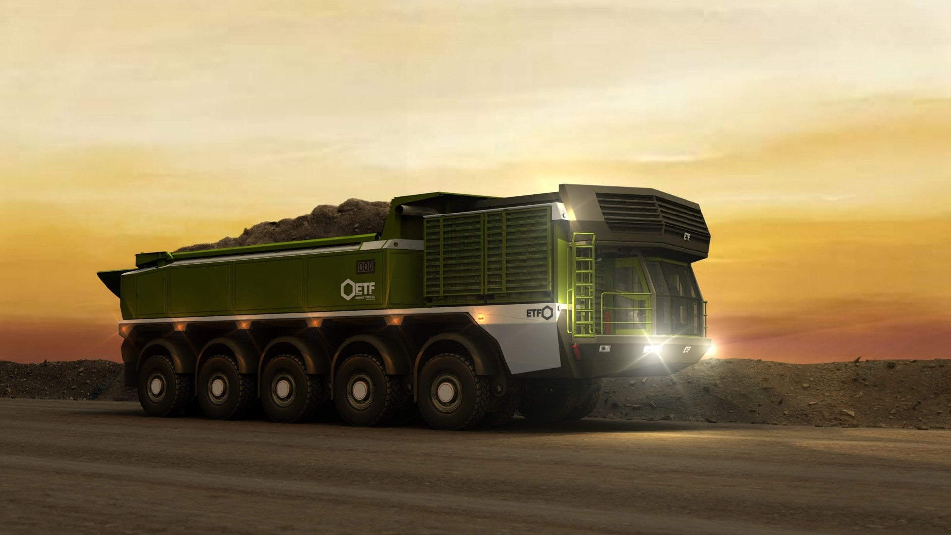 Etf Mt 240 Mining Truck Hd Wallpaper Background Image