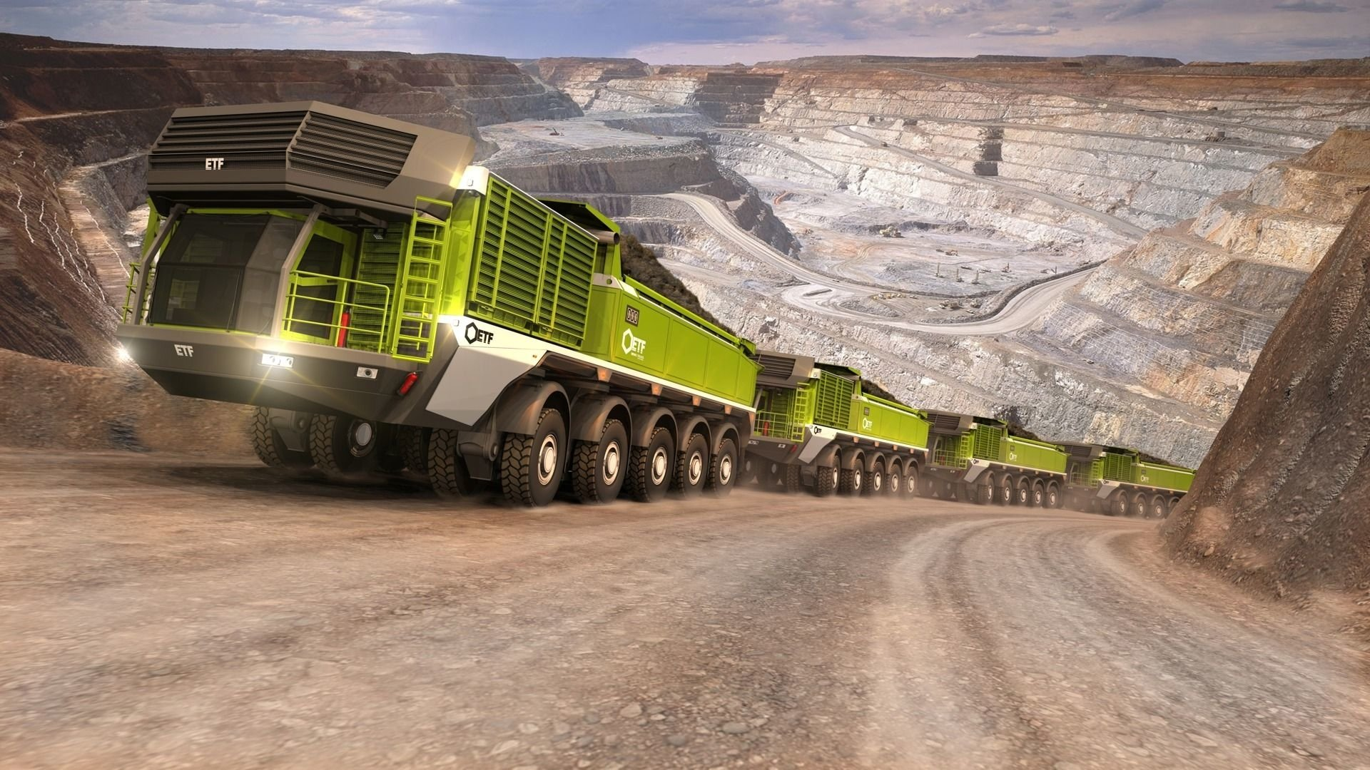 Etf mt 240 mining truck hd wallpaper background image 1920x1080 id 785339 wallpaper abyss - Mining images hd ...