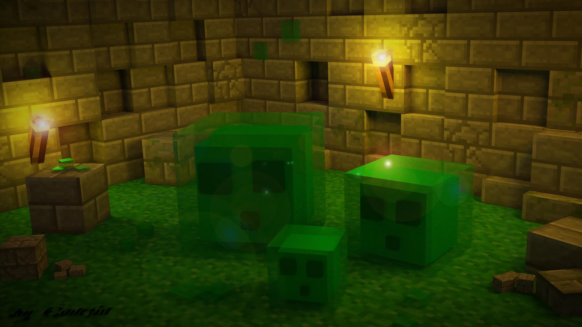 Minecraft Fondo De Pantalla Hd: Minecraft Slime Fondo De Pantalla HD