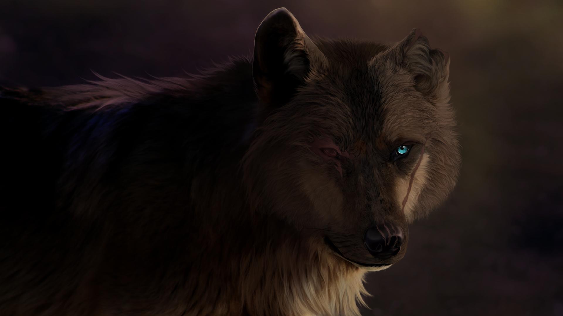 Fantasy - Wolf  predator (Animal) Scar Wallpaper